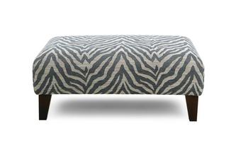 Pattern Banquette Footstool Savanna