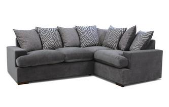 Pillow Back Left Hand Facing 2 Seater Corner Sofa Savanna