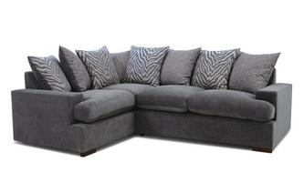 Pillow Back Right Hand Facing 2 Seater Corner Sofa Savanna