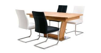 Sedgwick Extending Table Open Frame Base & 4 Cantilever Chairs