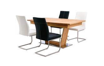 Extending Table Open Frame Base & 4 Cantilever Chairs Sedgwick