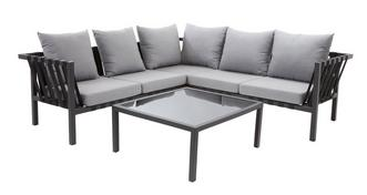 Selene Corner Sofa & Glass Coffee Table