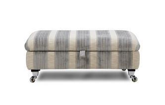Stripe Rectangular Storage Footstool
