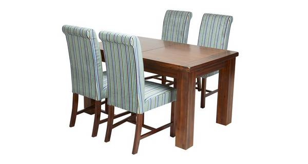 Shiraz Small Extending Dining Table Amp Set Of 4 Slat Back
