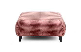 Pattern Large Footstool Silsden Pattern
