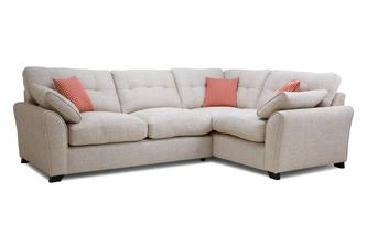 Left Hand Facing 3 Seater Corner Sofa KIrkby Plain