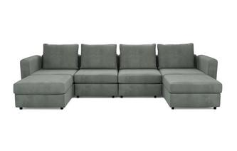 6 Seats, 6 Sides - The Corner Hug - Splendour Fabric