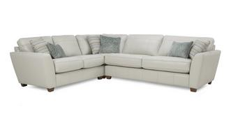 Sophia Leather Right Hand Facing 3 Seater Corner Group