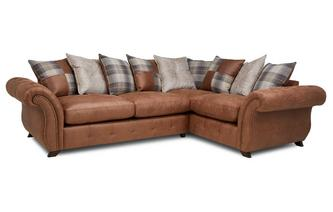 Pillow Back Left Hand Facing 3 Seater Sofa Bed Corner Sofa
