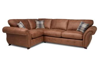 Formal Back Right Hand Facing 3 Seater Sofa Bed Corner Sofa