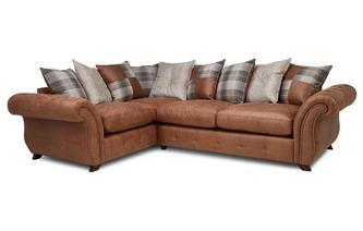 Pillow Back Right Hand Facing 3 Seater Sofa Bed Corner Sofa