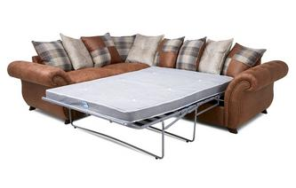 Pillow Back Right Hand Facing 3 Seater Deluxe Sofa Bed Corner Sofa