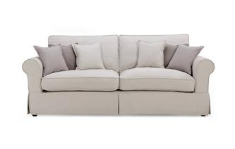 Formal Back 4 Seater Sofa Classic Cotton