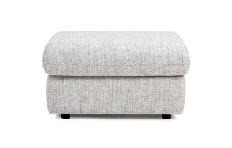 Fabric D Storage Footstool