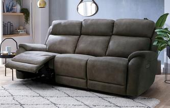 Strata Fabric 3 Seater Power Recliner Sofa Prestige