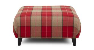 Sutton Large Check Large Footstool