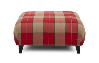 Large Check Large Footstool Sutton Large Check