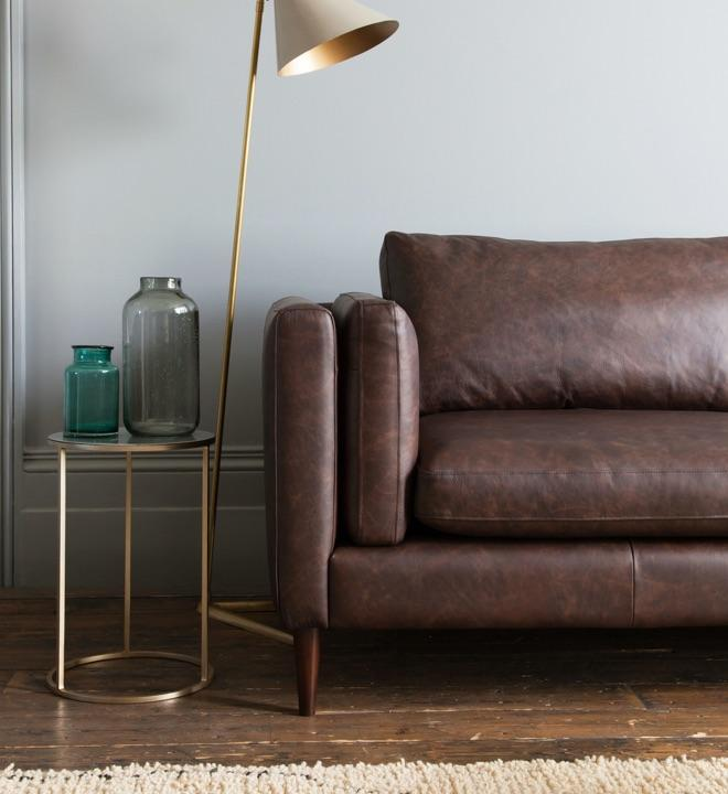 Corrected-grain Leather Sofas