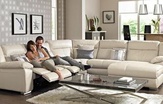 Swift Right Hand Facing Chaise Power Corner Sofa New Club