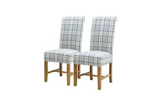 Tartan Dining Chair Set of 2 Tartan Dining Chairs Tartan Chair