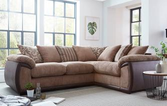 Theodore Pillow Back Left Hand Facing 2 Seater Corner Sofa Inception