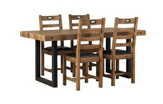 Fixed Table & Set of 4 Ladderback Chairs Toronto