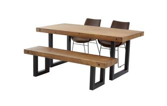 Fixed Top Table & Set of 2 Scoop Chairs and 1 Bench Toronto