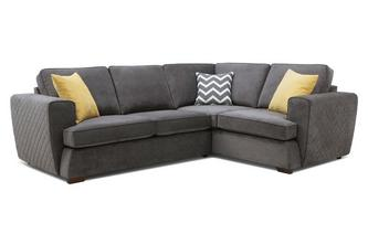 Left Hand Facing 2 Seater Corner Sofa Plaza