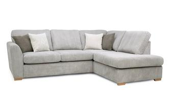 Turner Left Hand Facing Arm Open End Deluxe Corner Sofa Bed Marley