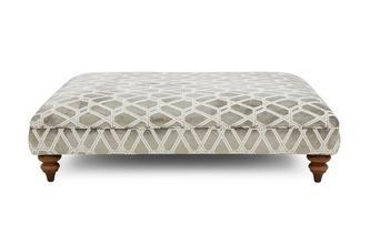 Lattice Pattern Footstool