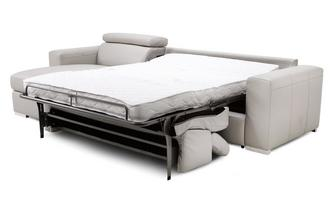 Left Hand Facing Storage Chaise 3 Seater Sofa Bed