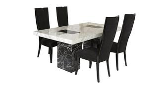 Vienna Fixed Table and 4 Oslo Chairs