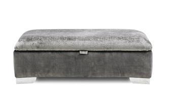 Large Plain Storage Footstool
