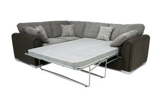 Formal Back Right Hand Facing 3 Seater Deluxe Corner Sofa Bed