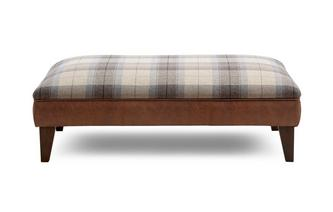 Large Check Footstool