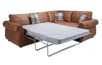Formal Back Left Hand Facing 3 Seater Deluxe Sofa Bed Corner Sofa