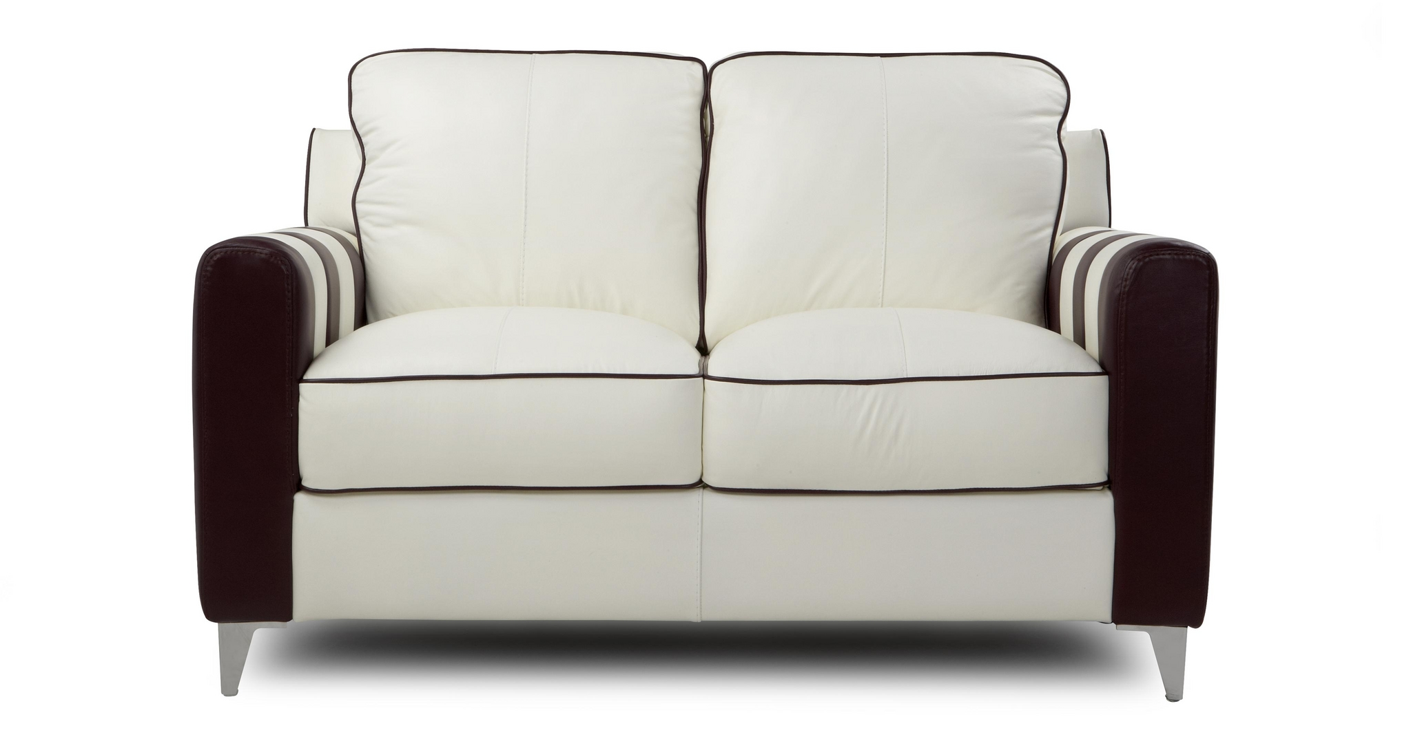 Dfs Wham Aspen White And Purple Leather Suite 2 Seater