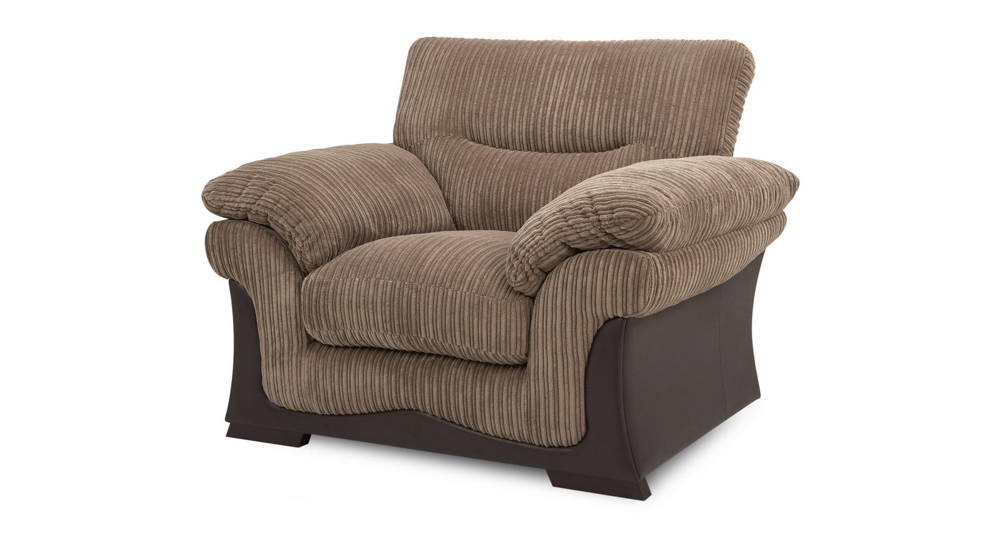 DFS Wyndham Nutmeg Brown Fabric Armchair   eBay