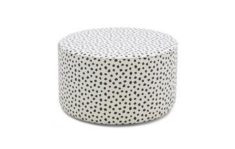 Pattern Large Round Footstool Yoko Pattern