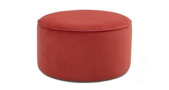 Yoko Velvet Large Round Footstool
