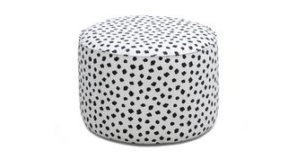Yoko Pattern Medium Round Footstool