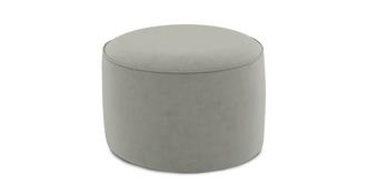 Yoko Velvet Medium Round Footstool
