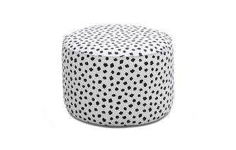 Pattern Small Round Footstool Yoko Pattern