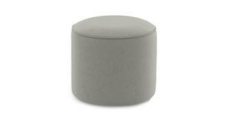Yoko Velvet Small Round Footstool