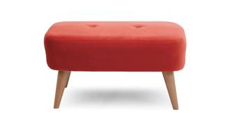 Yoko Velvet Small Bench Footstool