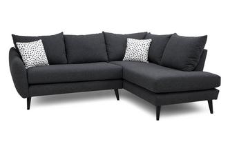 Left Hand Facing Open End Corner Sofa Yoko Plain