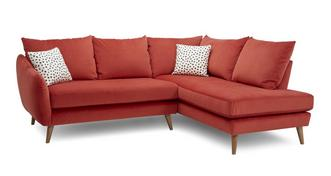 Yoko Velvet Left Hand Facing Open End Corner Sofa