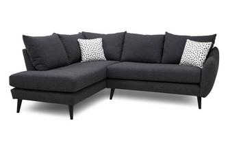 Right Hand Facing Open End Corner Sofa Yoko Plain