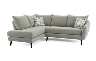Velvet Right Hand Facing Open End Corner Sofa Yoko Velvet