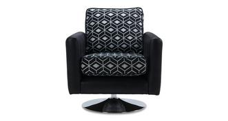 Zander Pattern Swivel Chair